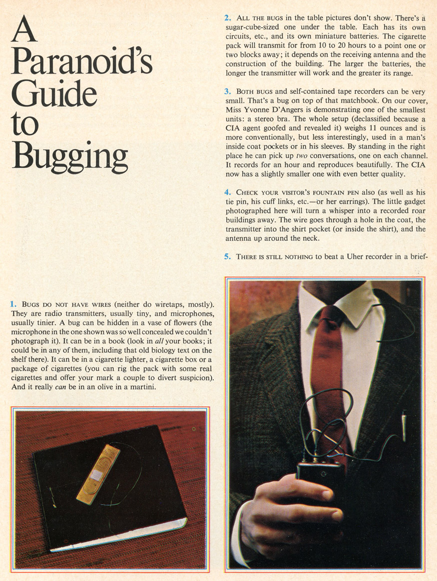 A Paranoid's Guide to Bugging Ramparts Magazine