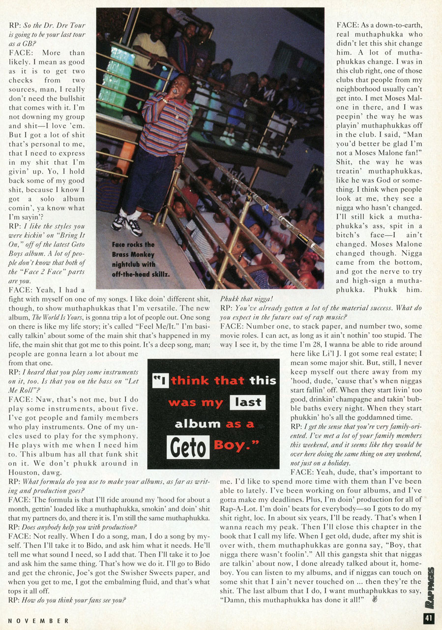 Scarface Interview Rap Pages - pg. 6